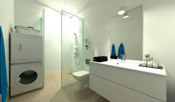 Nordbjerg Rækkehuse Badværelse 1.sal